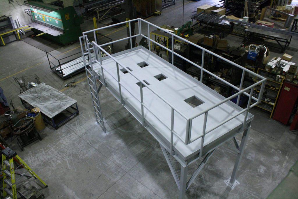 Waste Water Holding Tank Platform