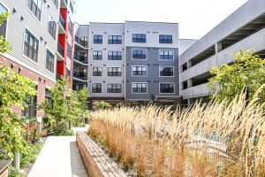 McHenry Row Apartments Courtyard