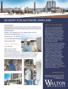McHenry Row Project Sheet